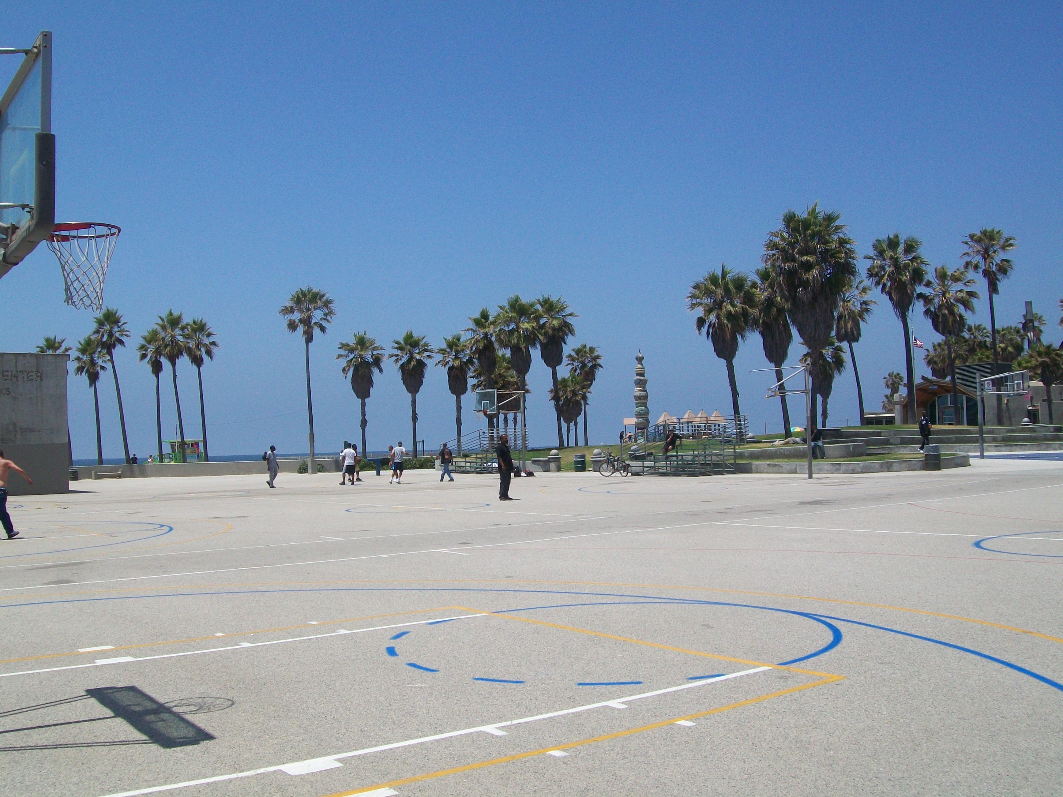 File Venice Beach Basketball Court Panoramio Jpg