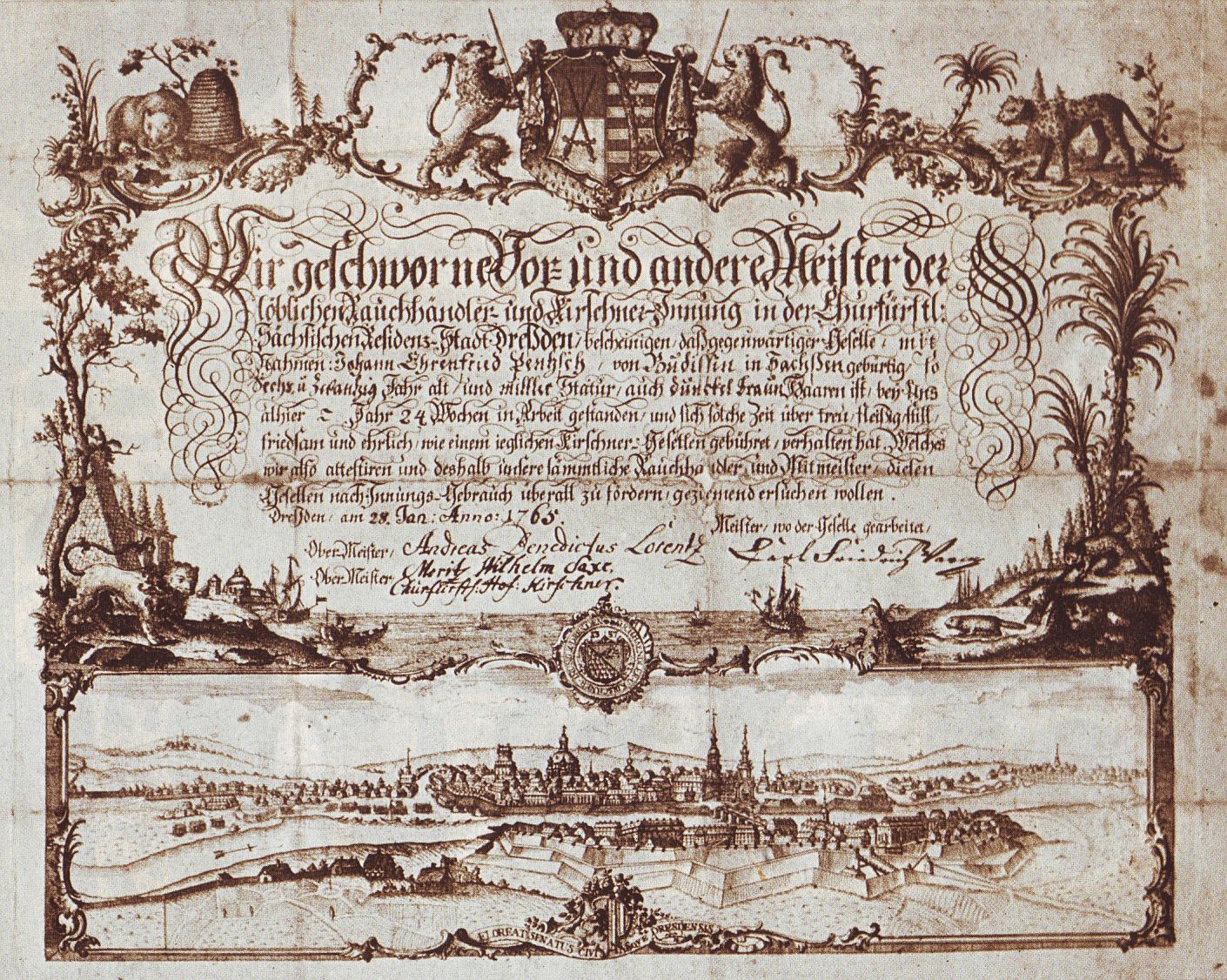 File:Wanderbrief des Kürschnergesellen Ehrenfried Pentzsch,Dresden 1756.jpg