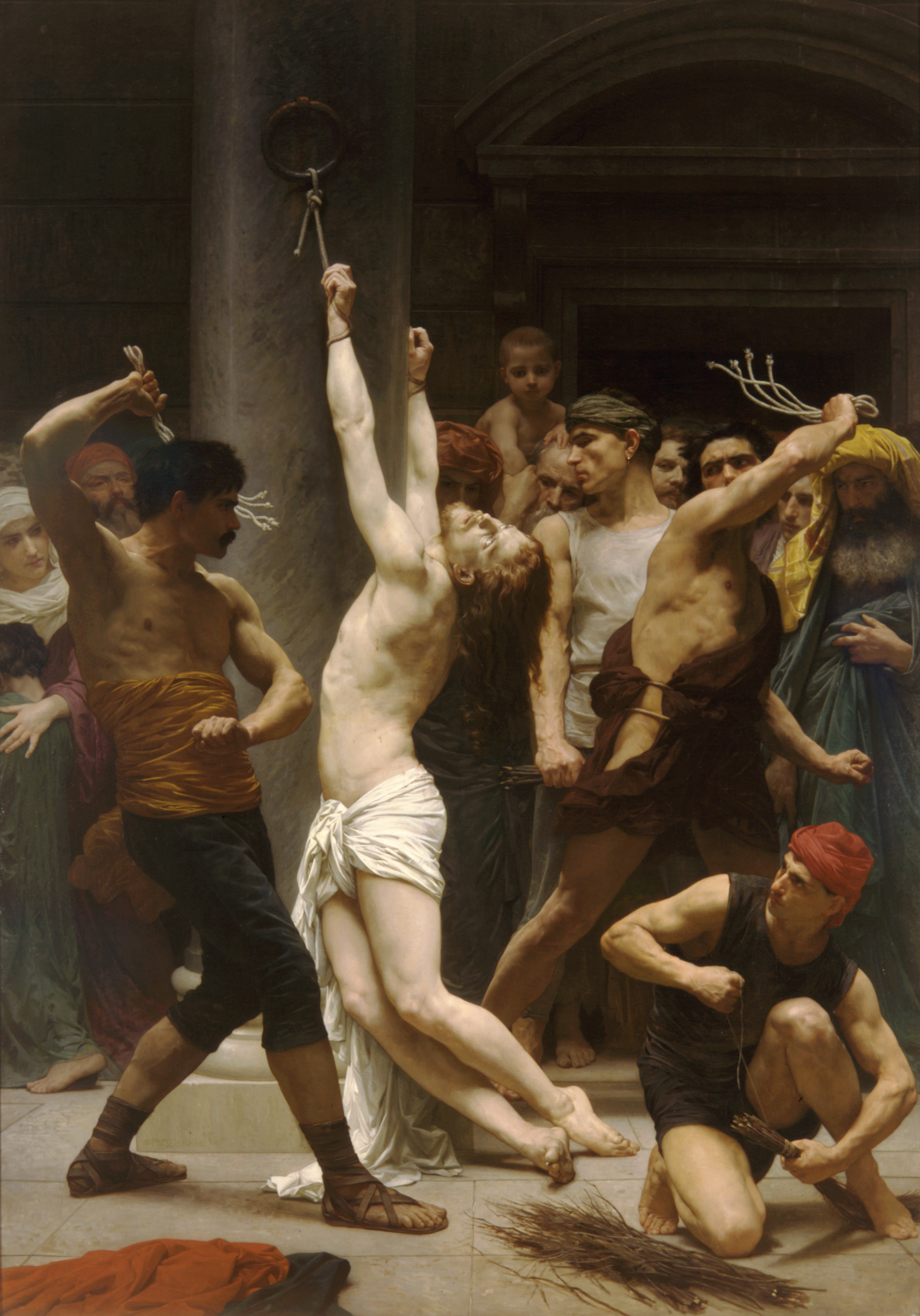 Image result for flagellation the scourging at the pillar painting