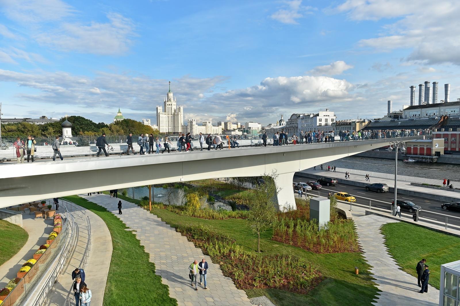 Zaryadye Park will be connected with the Moscow River on three levels 66