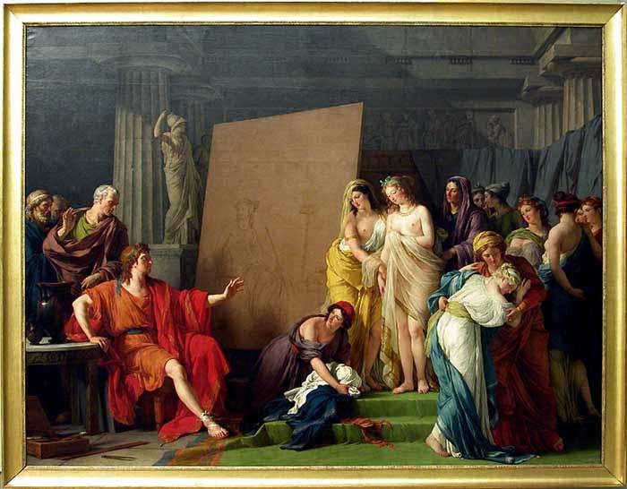 François-André Vincent: Zeuxis y las muchachas de Crotona (1789).