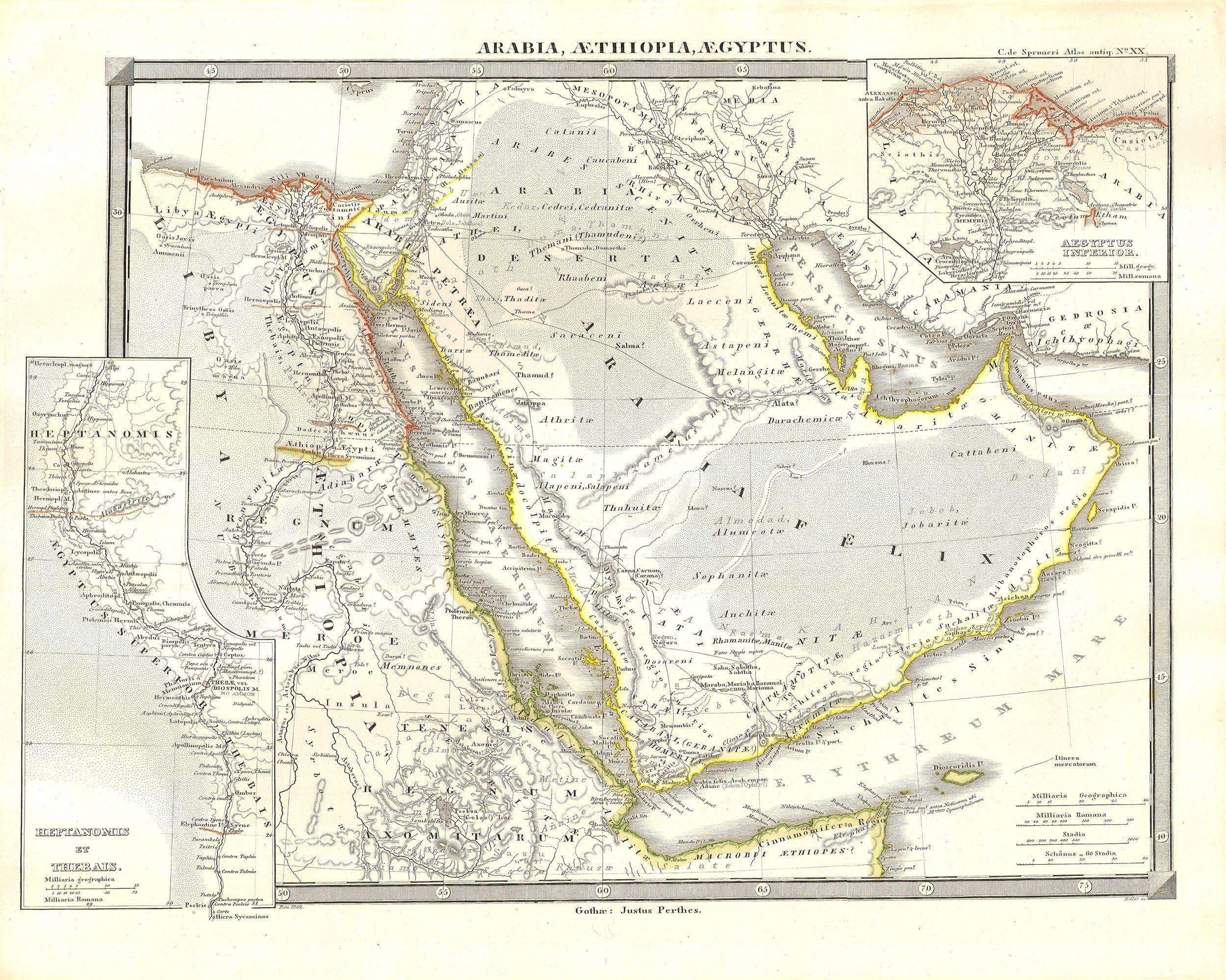 File Spruneri Map Of Arabia Egypt And Ethiopia Or Abyssinia - Map of egypt ethiopia