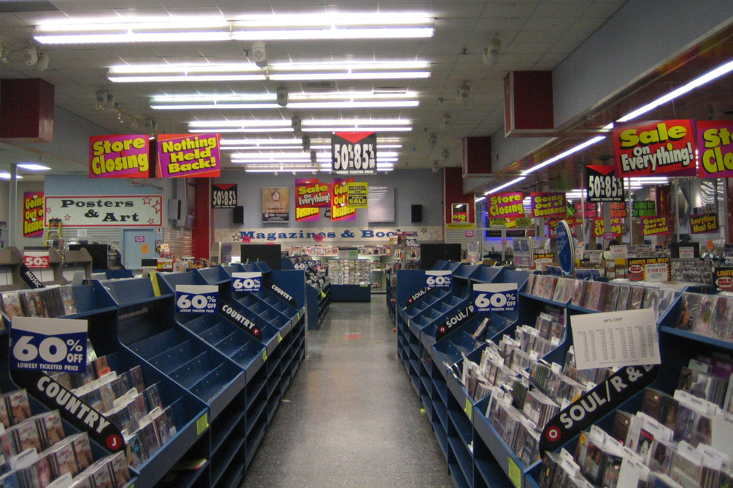 Image result for record shop end of aisle carousel