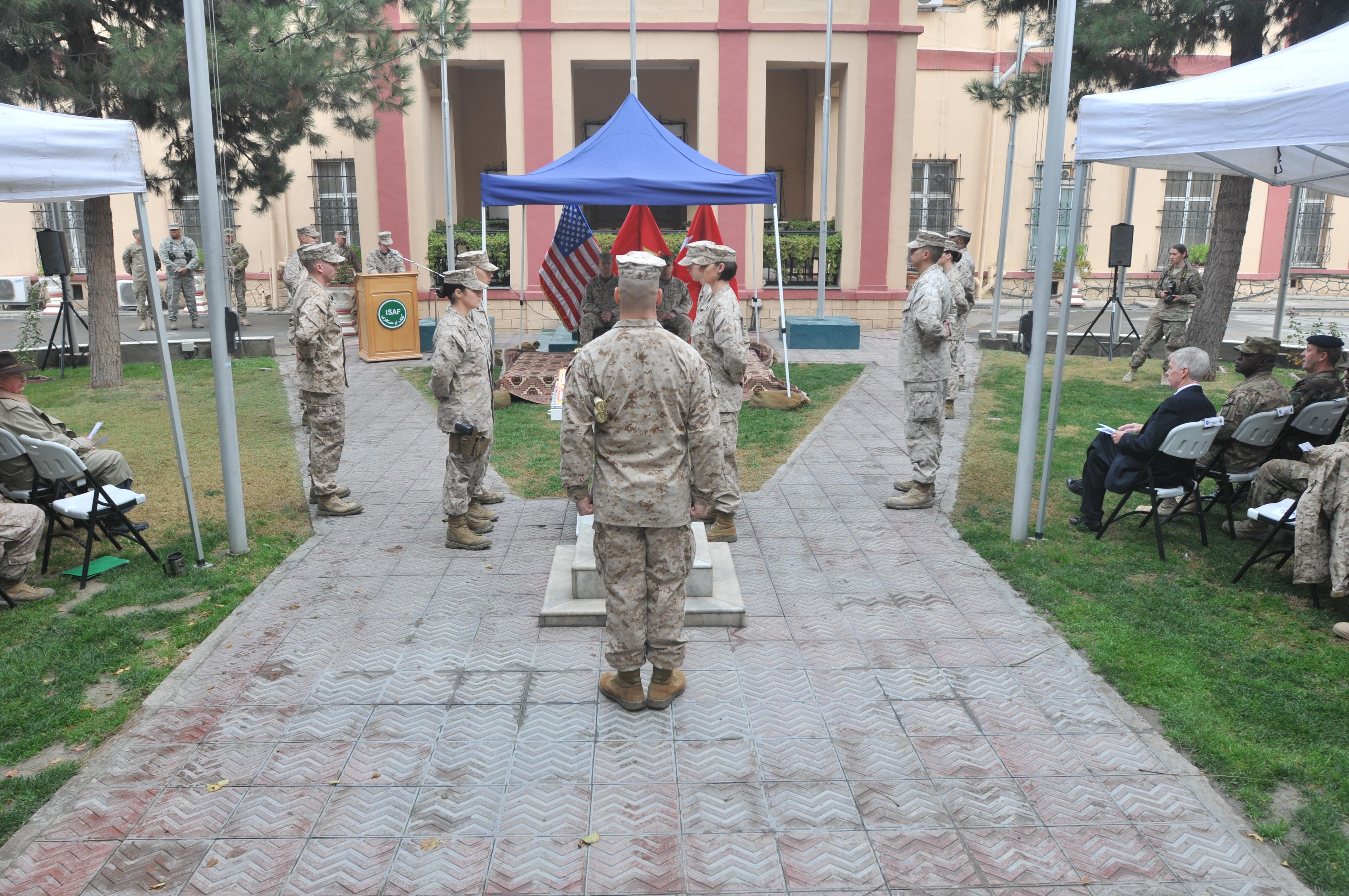 Marine Corps Birthday Ball Cake Ceremony