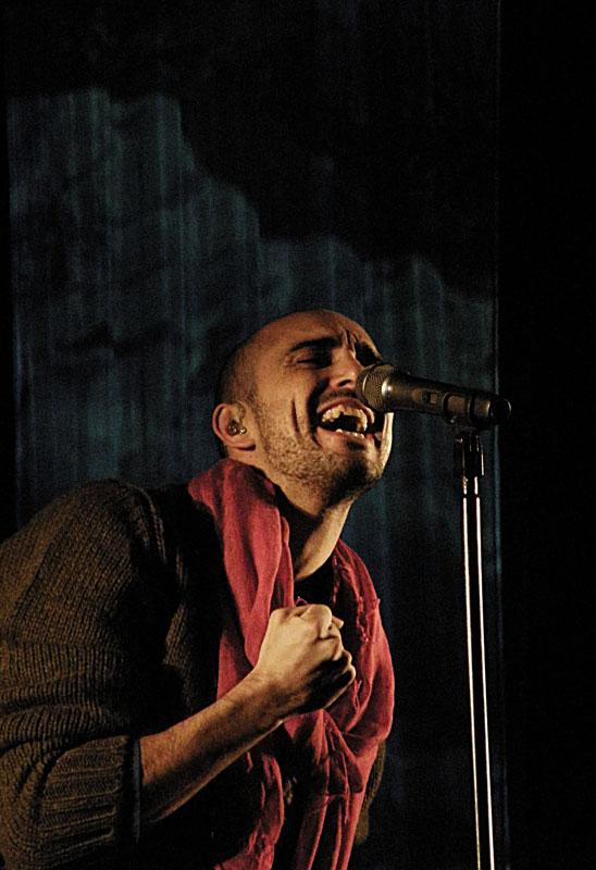 Abel Pintos en un recital en Melincué