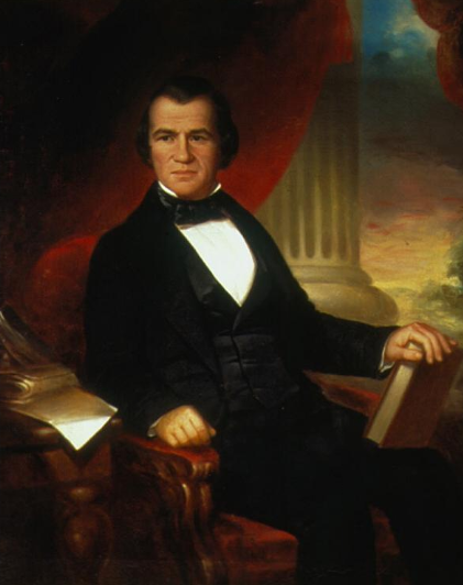 Attribution: William Brown Cooper, Sitter: Andrew Johnson, Date: 1856 Andrew Johnson by William Brown Cooper.png