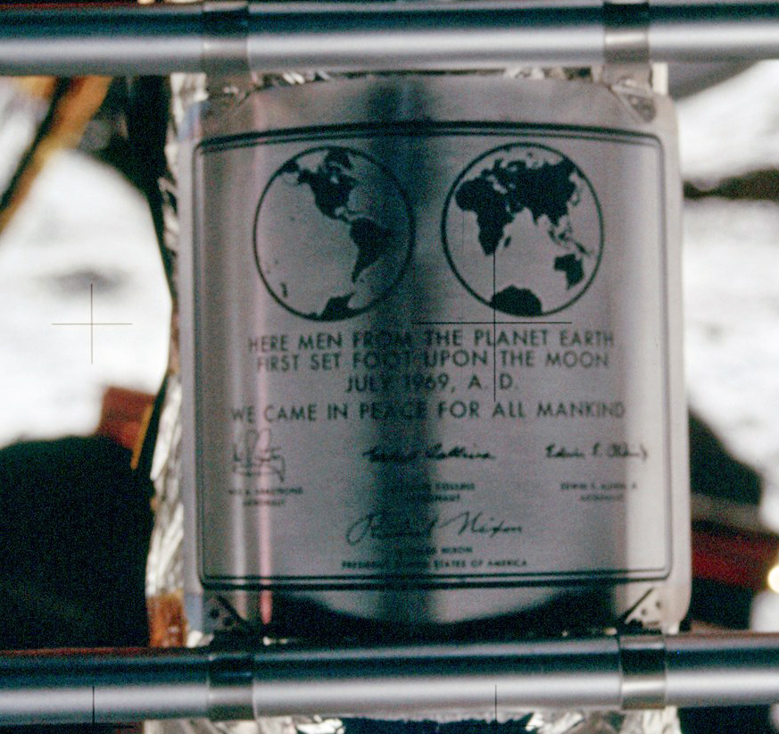 [Image: Apollo_11_plaque_closeup_on_Moon.jpg]