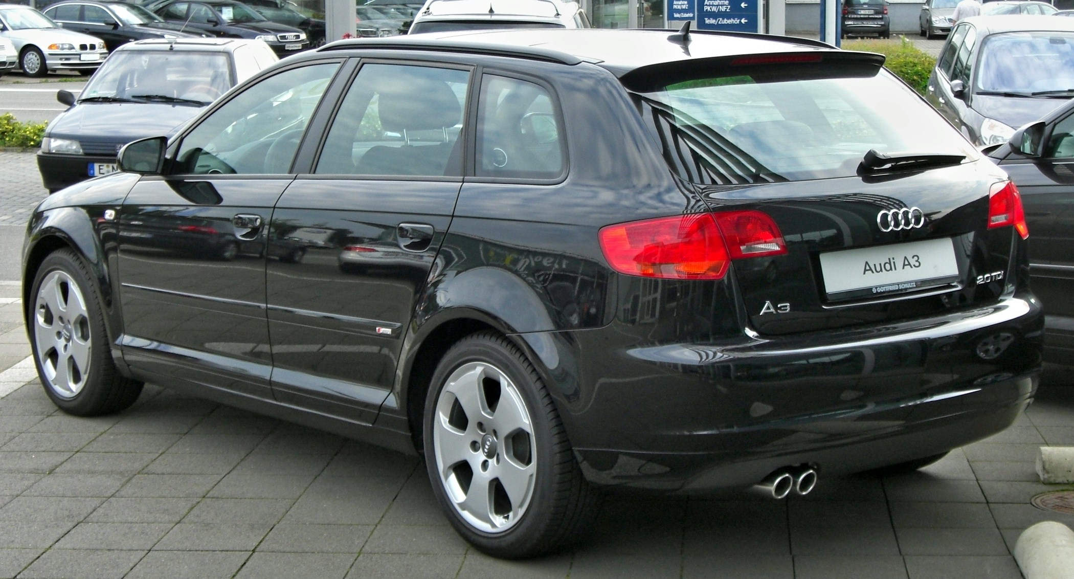 file audi a3 sportback 2 0tdi s line rear jpg. Black Bedroom Furniture Sets. Home Design Ideas