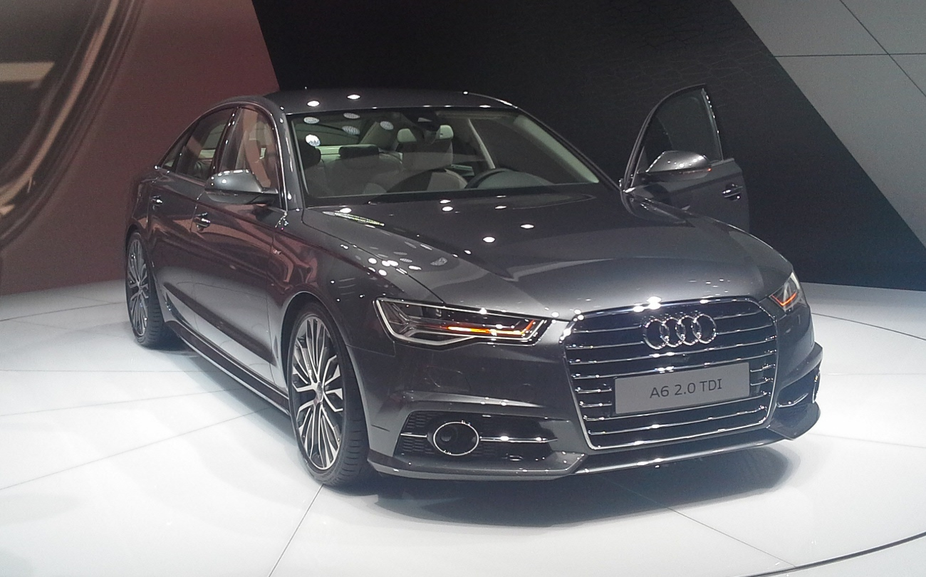 file audi a6 c7 facelift 01 mondial de l 39 automobile de paris 2014 10 wikimedia. Black Bedroom Furniture Sets. Home Design Ideas