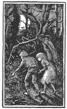 Illustration of Hansel and Gretel by H.J. Ford, 1889
