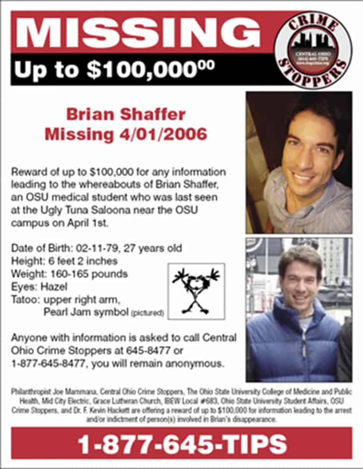 File:Brian Shaffer   Missing Person Flyer.JPG  Missing Person Flyer