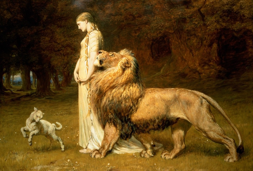 Una and the Lion, Briton Rivière (1840-1920)