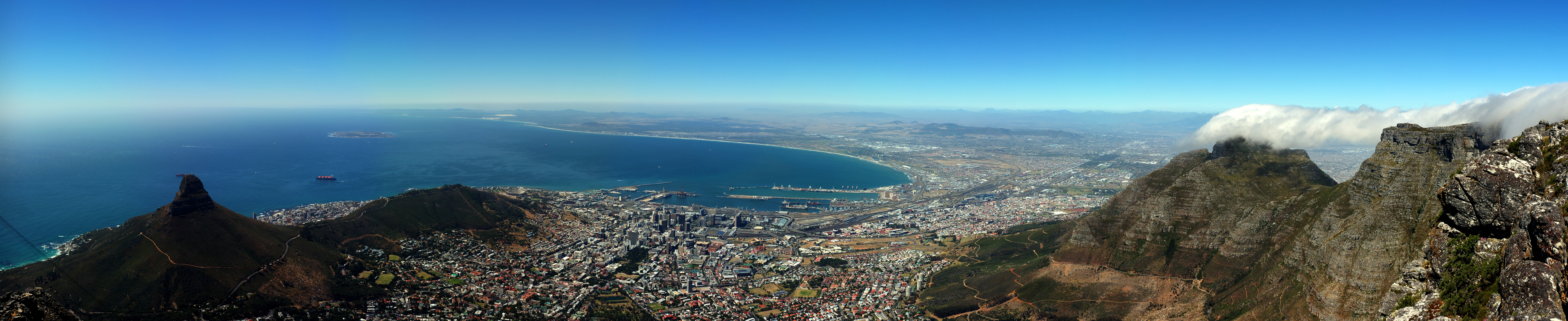 File Capetownpanoramafromtablemountain Jpg Wikimedia Commons