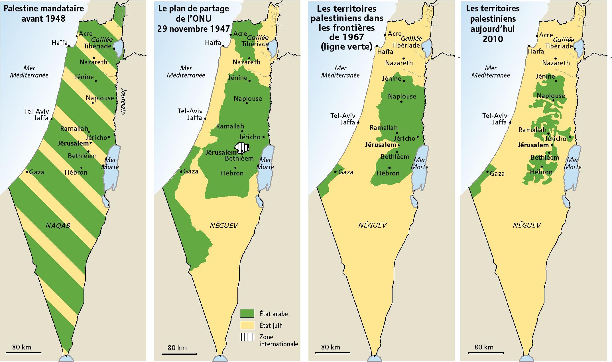 Fichier:Carte de la palestine en 2010. — Wikipédia