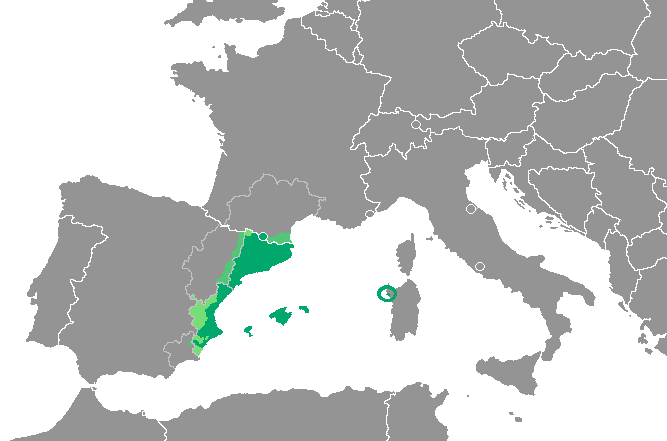 Map Of Spain And Europe.Catalan Language Wikipedia