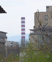 Chimney of the Zemlyane CHP plant in Sofia