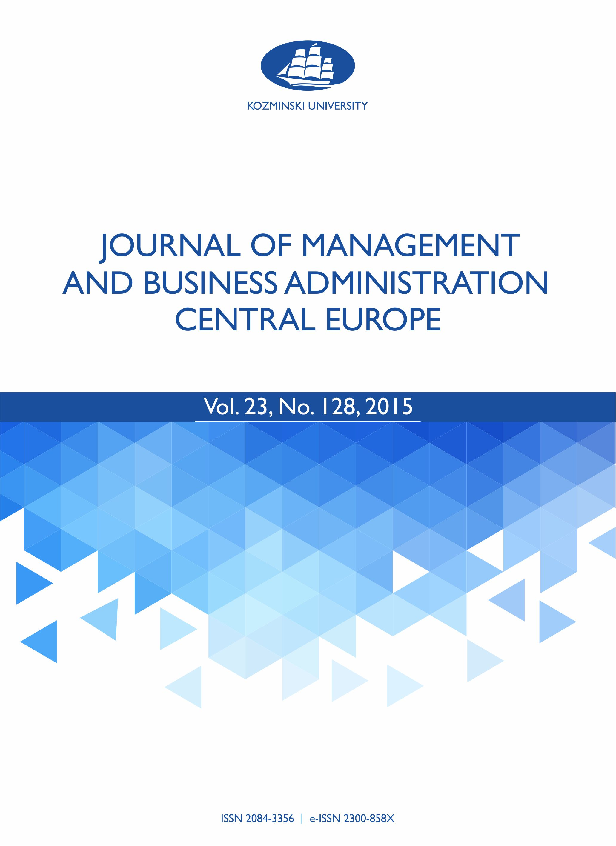 Journal of Management and Business Administration  Central Europe