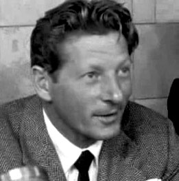Kaye at Schiphol on October 5, 1955.