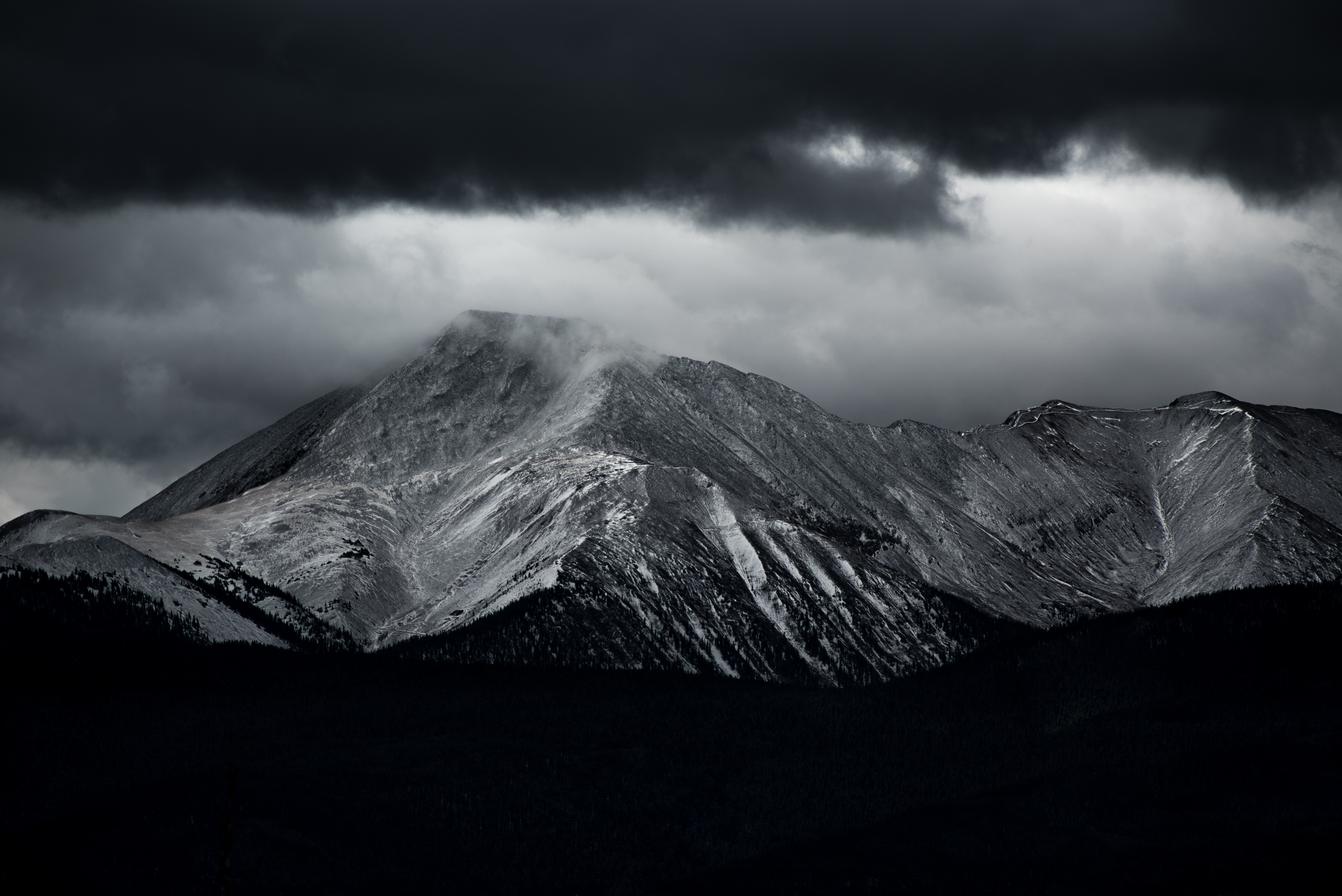 Dark Clouds on the Mountain