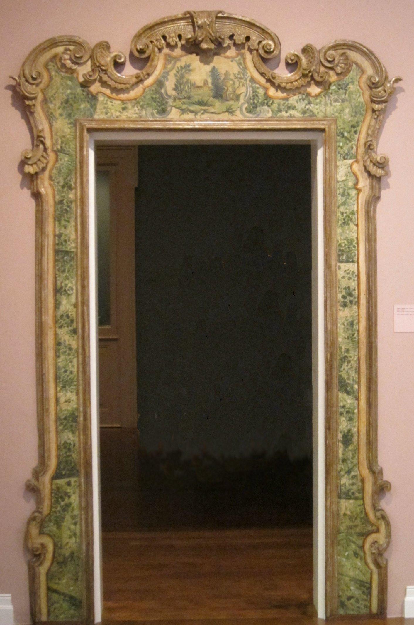 Tremendous File Door Frame 18Th Century Venice Wood Polychrome Decoration Largest Home Design Picture Inspirations Pitcheantrous