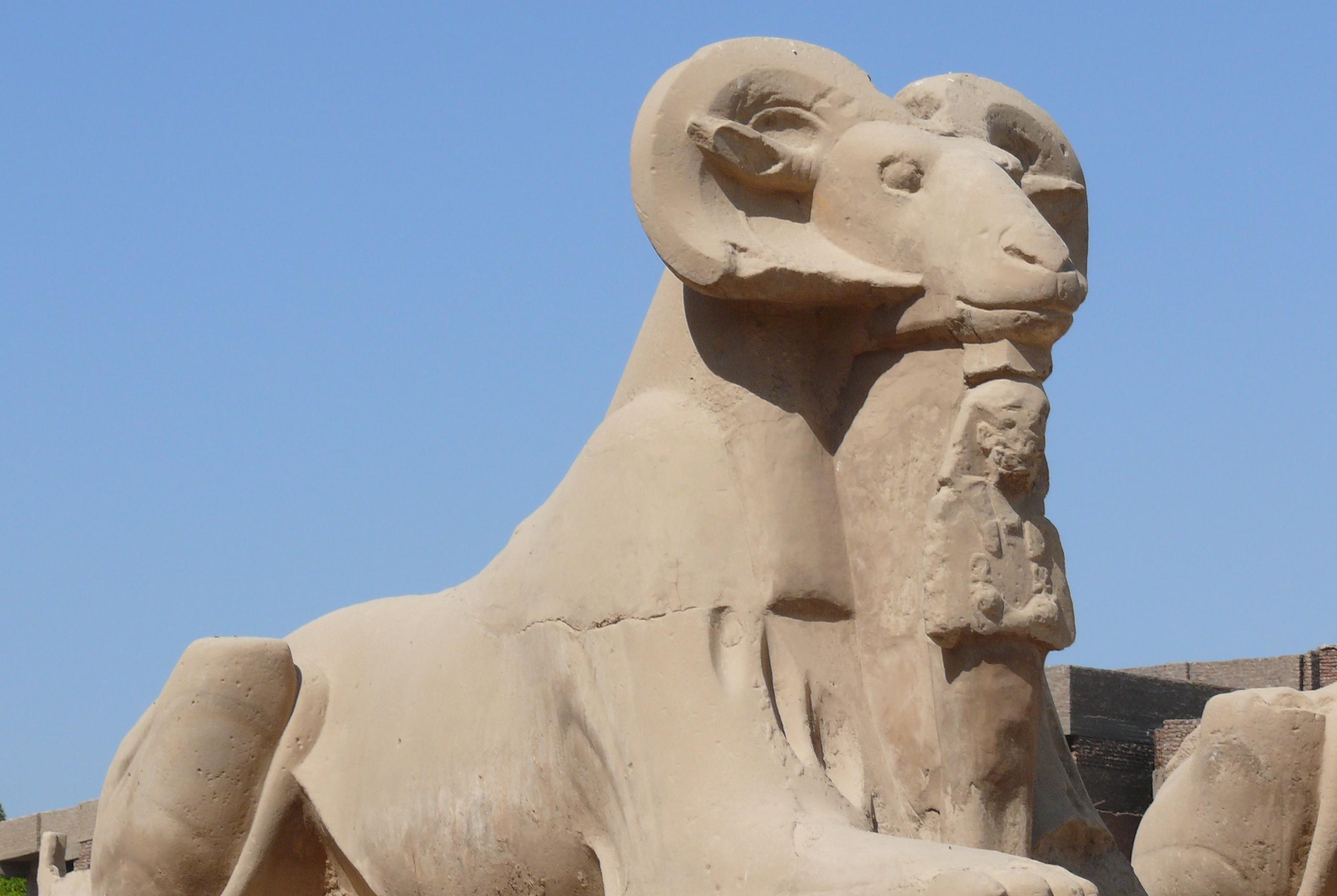 Dromos Sphinx Karnak 04 Temple Amun Wikipedia
