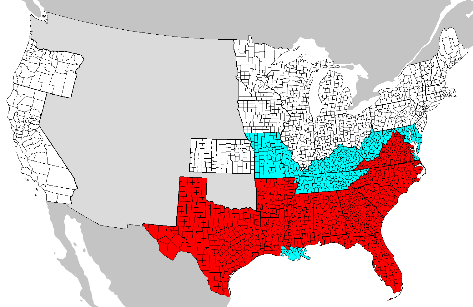 emancipation proclamation simple english the areas covered by the emancipation proclamation are in red slave holding areas not covered are in blue