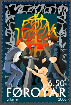 Faroe stamp 434 The Death of Baldur.jpg