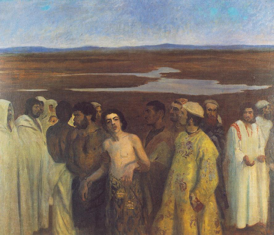 A painting of Joseph being sold by his brothers