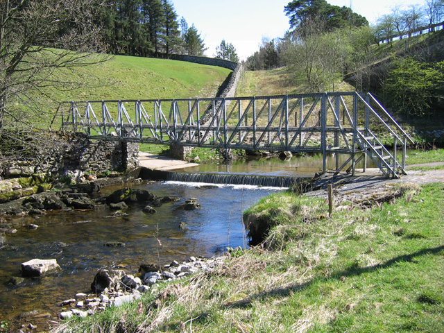 Footbridge and ford, Scandal Beck - geograph.org.uk - 1248107