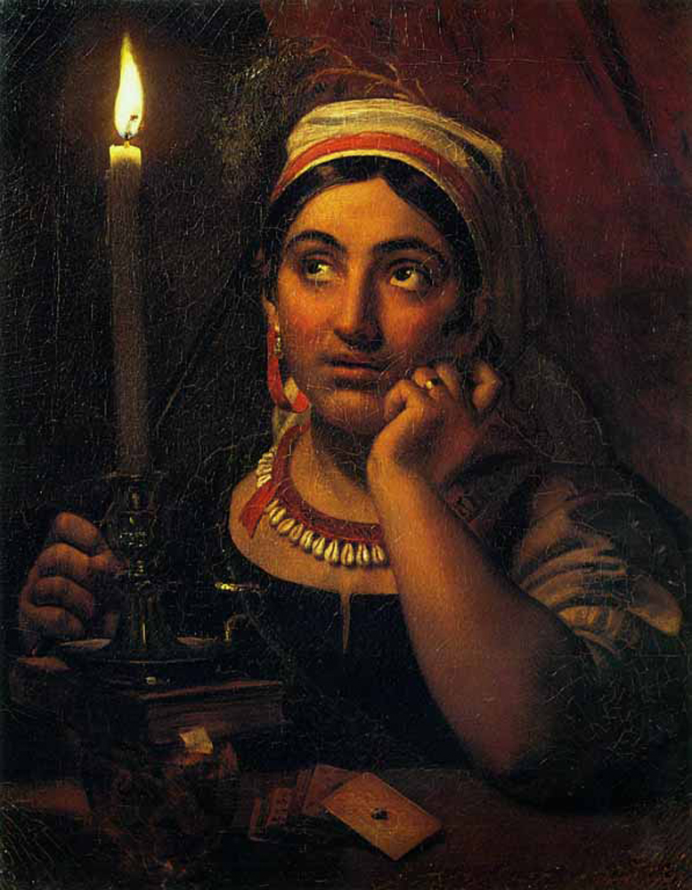 File:Fortune-teller With A Candle By O.Kiprensky (1830