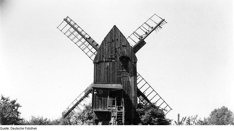 Fotothek df rp-a 0240029 Irxleben. Mühle Hilmer, Bockmühle, (1983 eingestürzt)