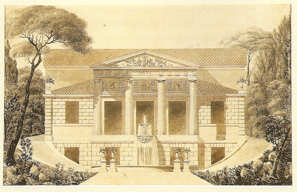projeto de gruta de jardim : projeto de gruta de jardim:File:Grandjean de Montigny – Projeto de casa com jardim – elevação 2