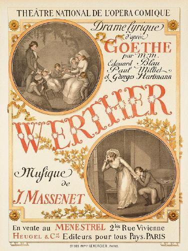The poster for the French premiere of the opera Werther by Jules Massenet - Eugène Grasset