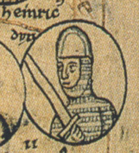 Henry II, Duke of Bavaria, served as Otto III's regent from 983 to 984. Following a failed rebellion to claim the throne from himself, Henry II was forced to pass the regency to Otto III's mother Theophanu. Henry II, Duke of Bavaria.jpg