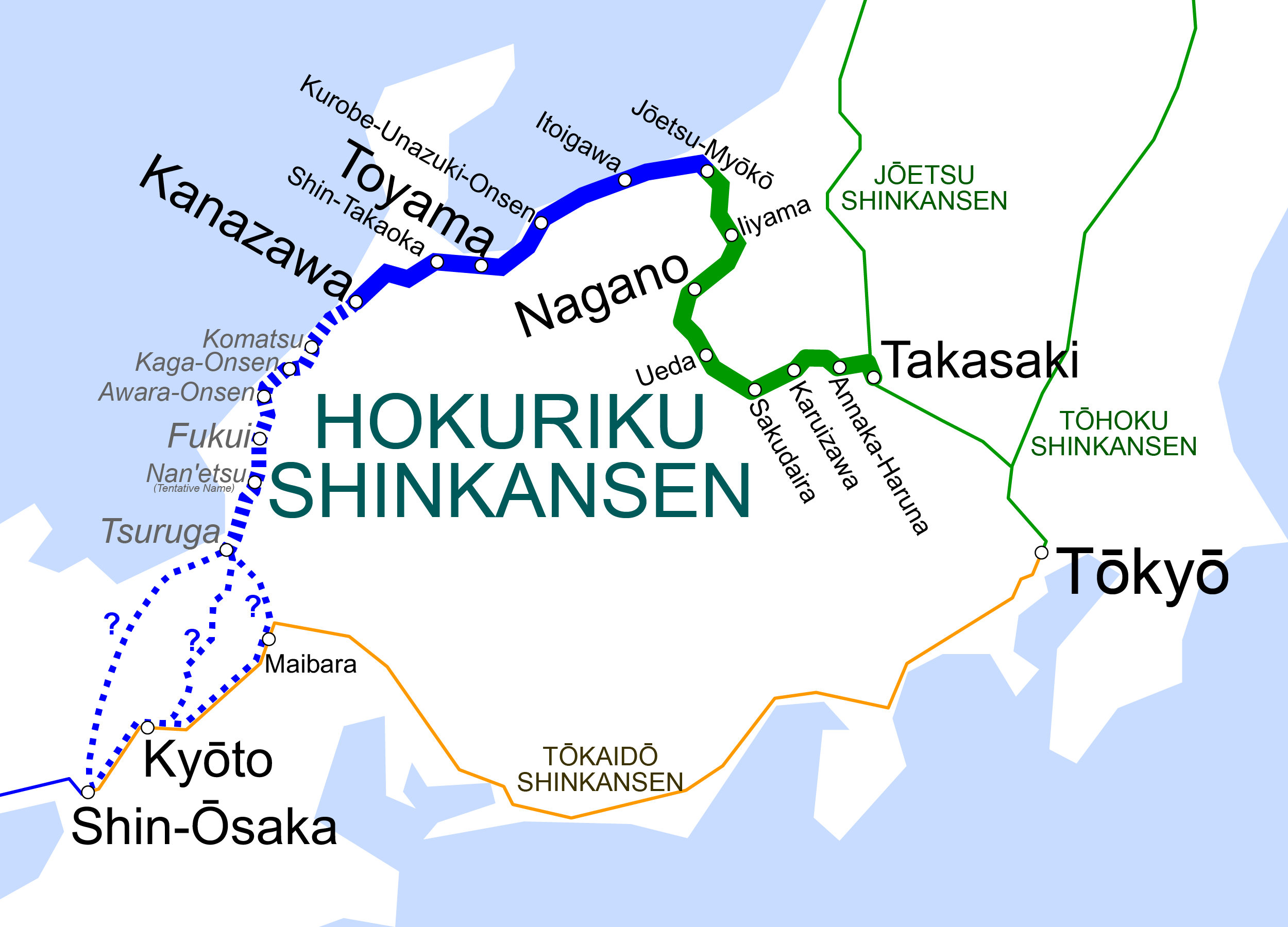 Another New HSL For Japan - Japan map shinkansen