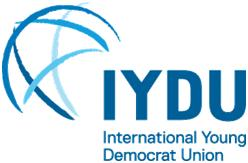 The IYDU logo is a stylised globe criss-crossed with blue lines