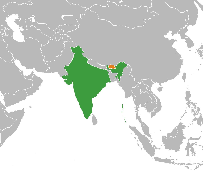 चित्र:India Bhutan Locator.png - विकिपीडिया
