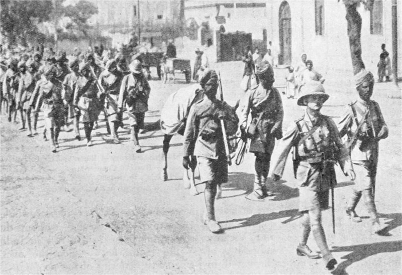 Indian forces on their way to the Front in Flanders - first world war 2