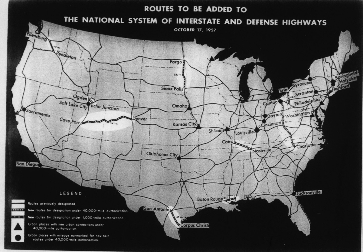 Resourcesforhistoryteachers Usii - Us highway map 1960