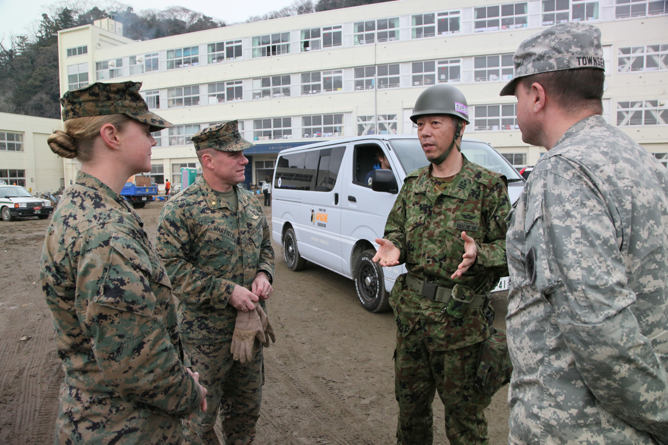File:JGSDF Col. Hisanori Fukada speaks with U.S. Marine ...