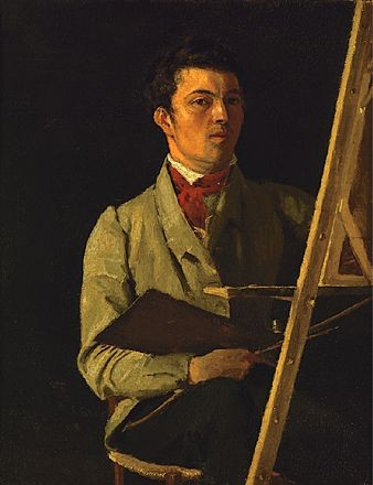 Corot at his easel