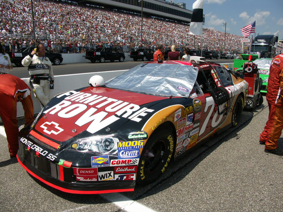 English: Kenny Wallace's #78 Furniture Row Rac...
