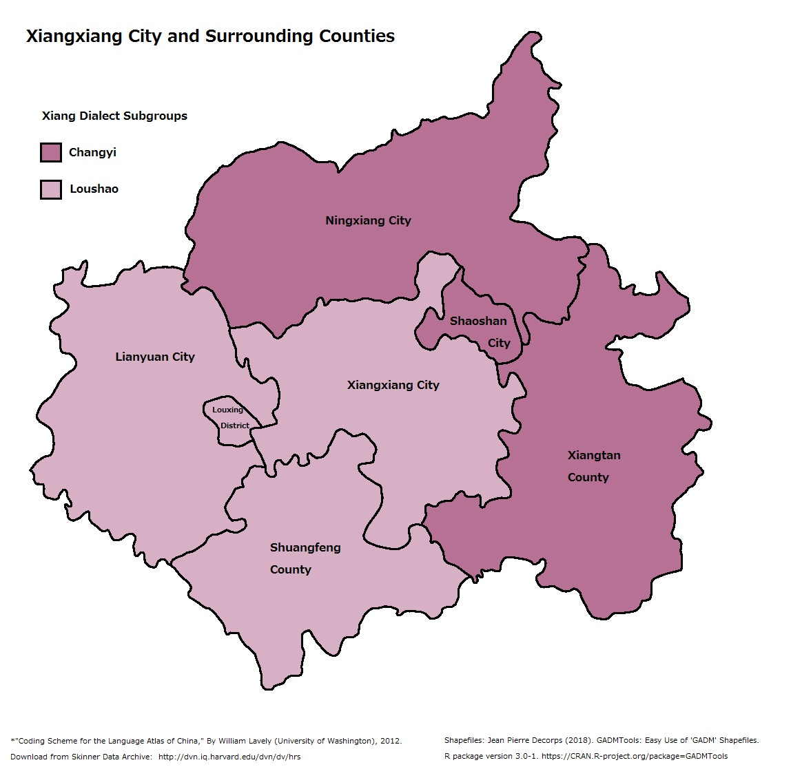 File:Linguistic map of Xiangxiang City and surrounding counties jpg
