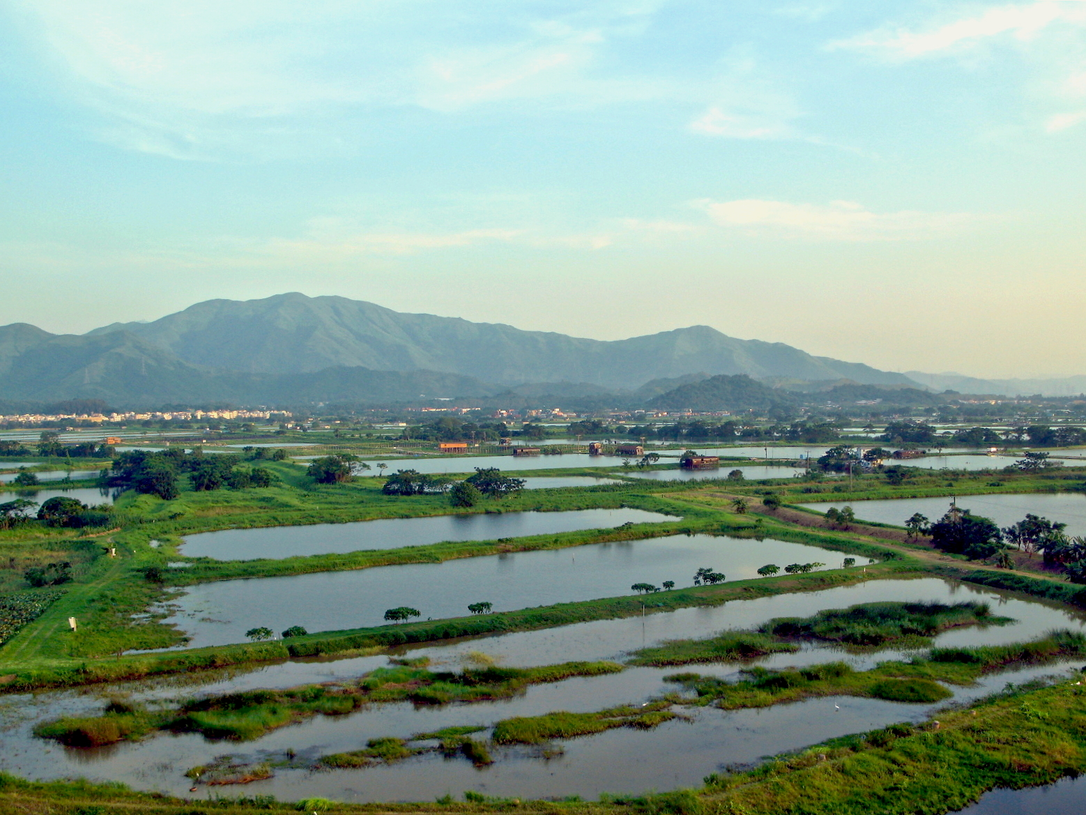 Lok Ma Chau- better air quality due to large area of wetland