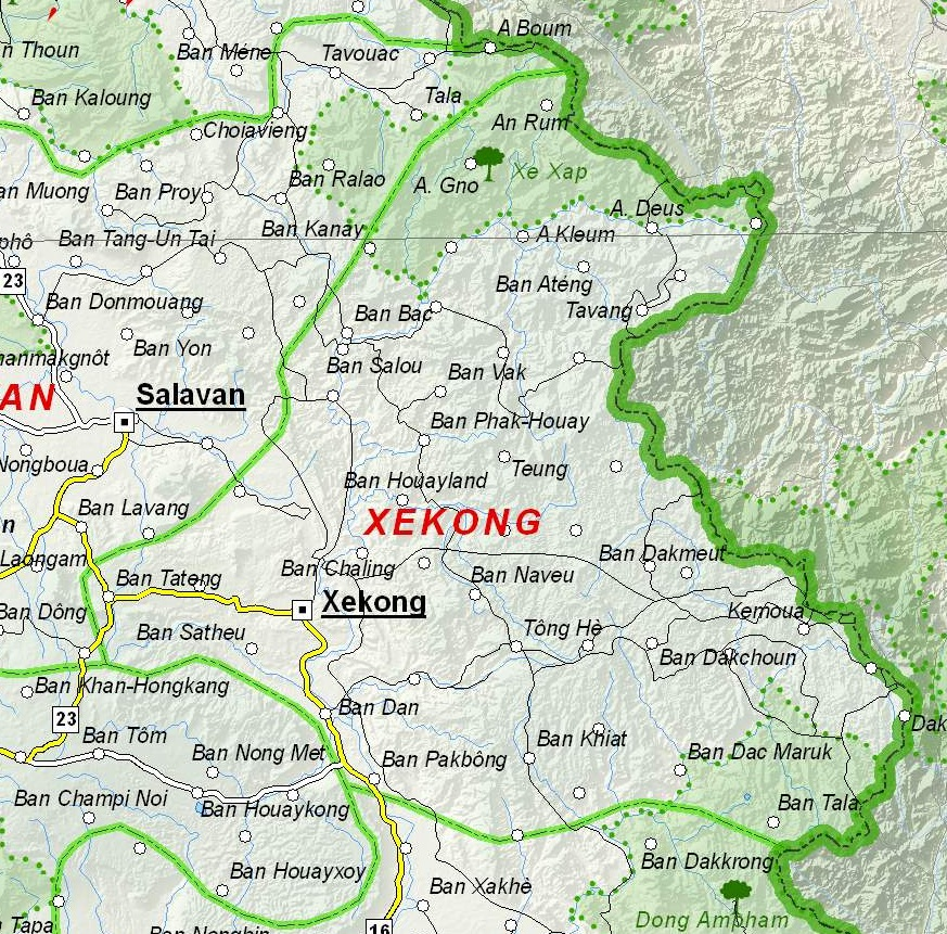 Sekong Laos  city images : Datoteka:Map of Sekong Province, Laos Wikipedija