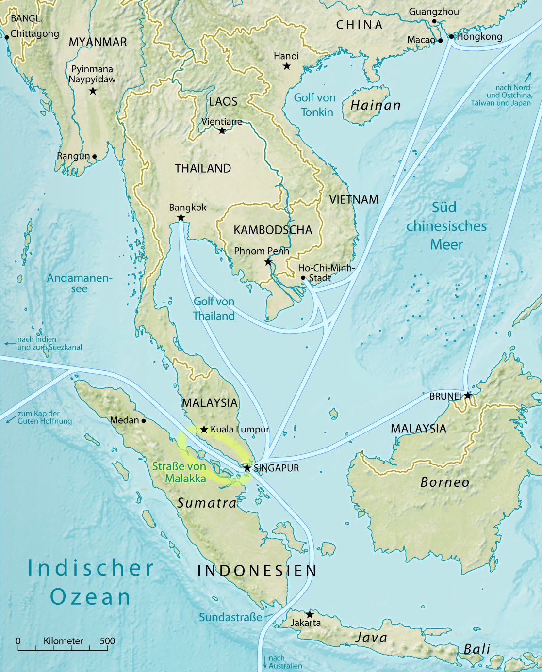 Location of the Malacca Strait on the map. Where is the Strait of Malacca 15