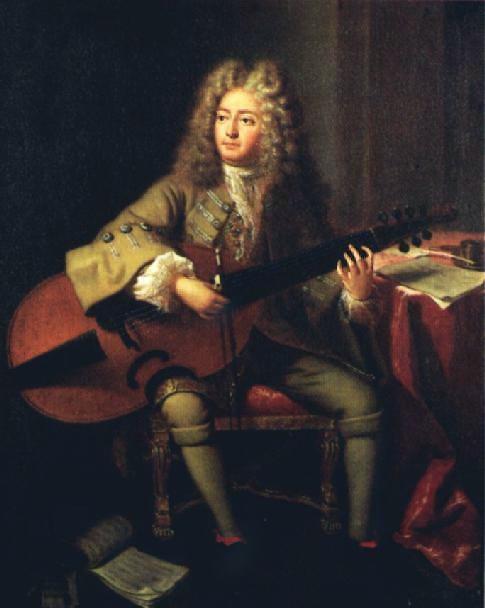 Марен Маре на портрете Андре Буи (1704)