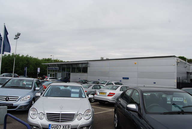 File mercedes benz car dealership vale rise geograph for Mercedes benz car lot