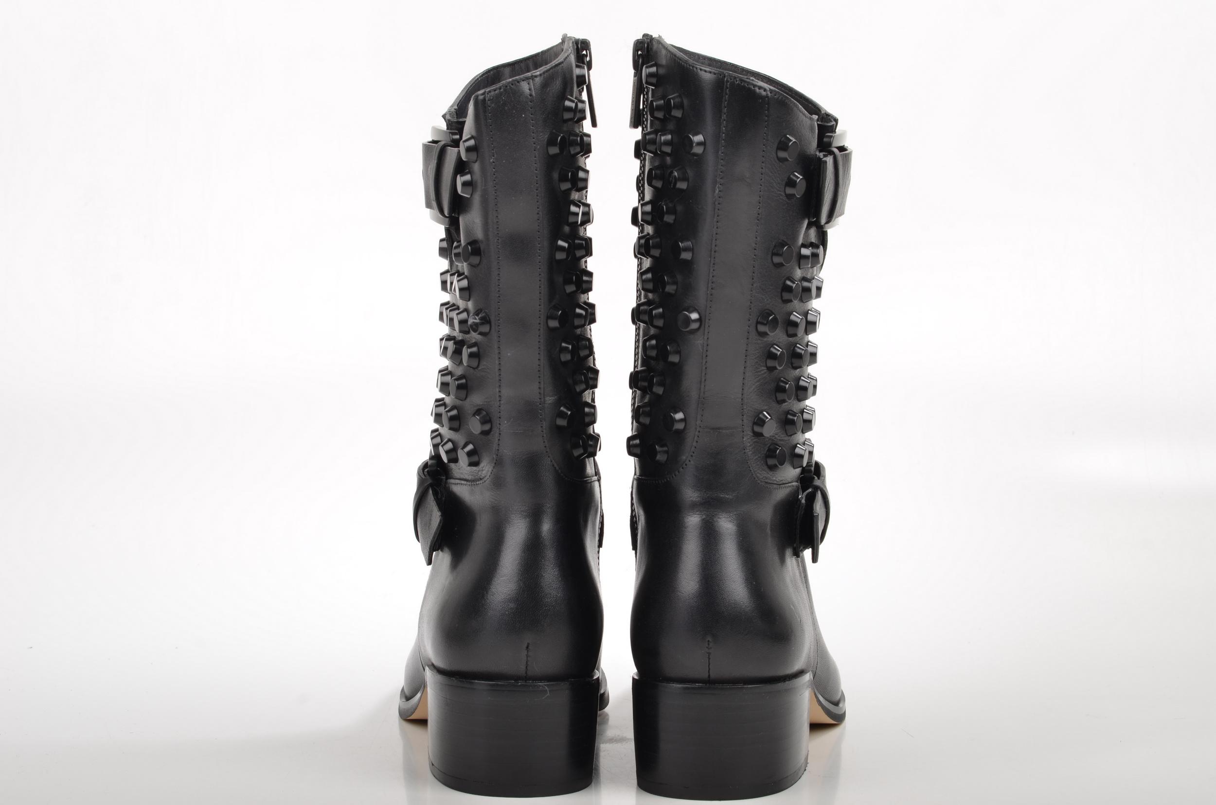 17281ad380d4 File Michael Kors Bryn Boot Stiefel mit Nieten 40F4BRMB7L Kalbsleder schwarz  (4) (