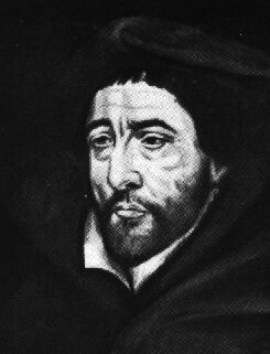 "Michel de Bay (Michael Baius) (1513-1589), professor and rector of the University of Louvain, founder of the doctrine of ""Baianisme"", precursor of Jansenism. Michel De Bay.jpg"